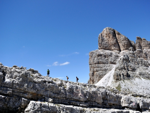 KIDS ON TOP OF THE DOLOMITES