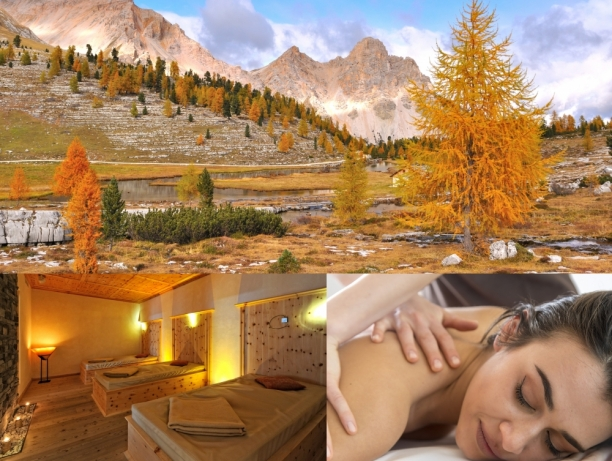 Autumn wellness in the Dolomites
